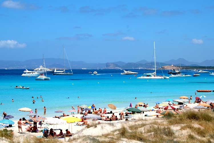 Playa de Ses Illetes (Formentera, Baleares)