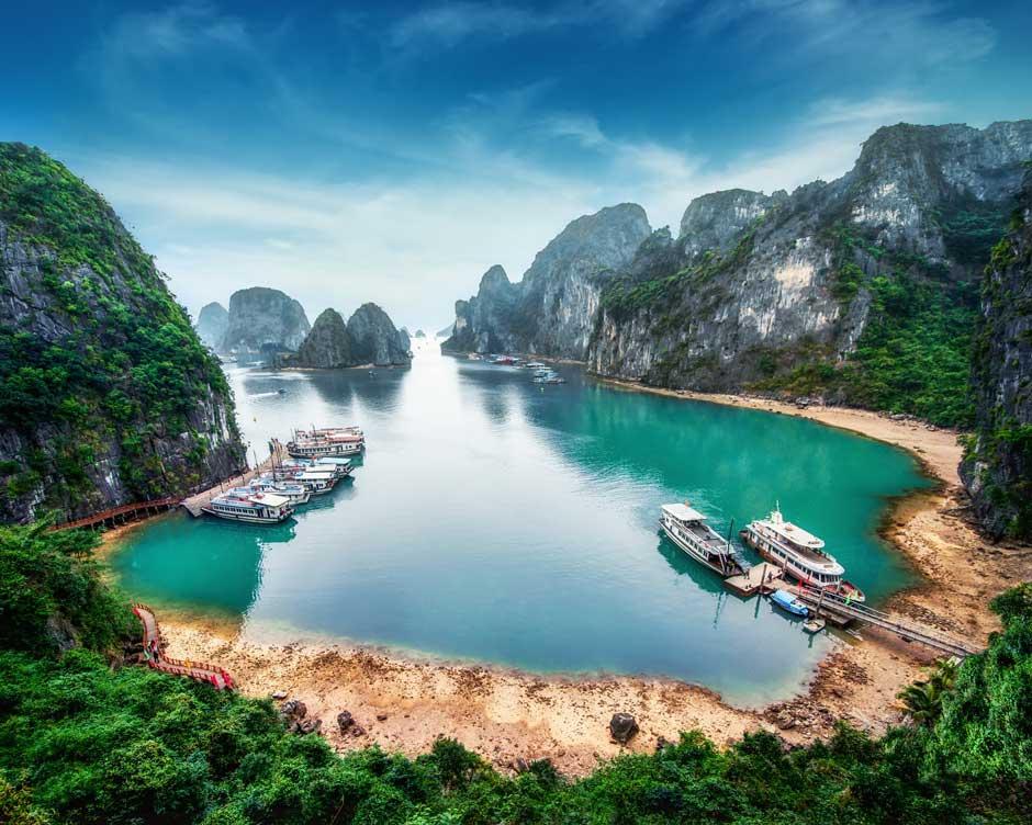 Por la bahía de Ha Long