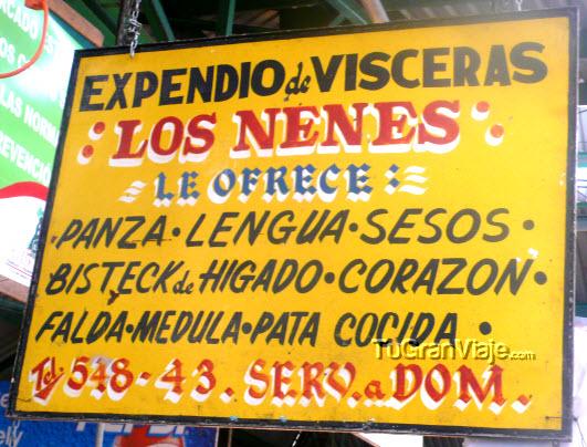 Expendio de vísceras Los Nenes, mercado de Zacatlán, Puebla