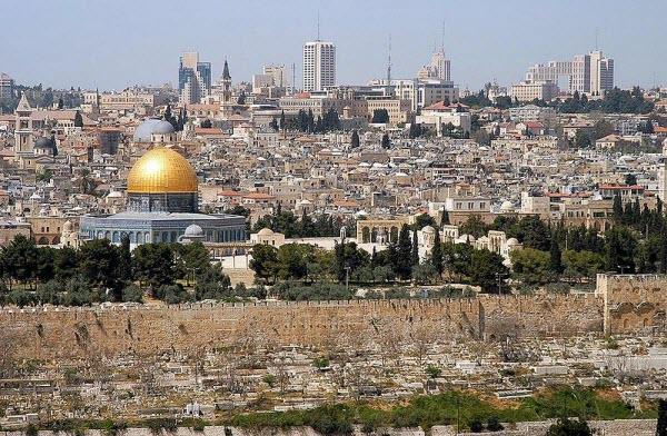 Panorámica de Jerusalen desde el Monte de los Olivos