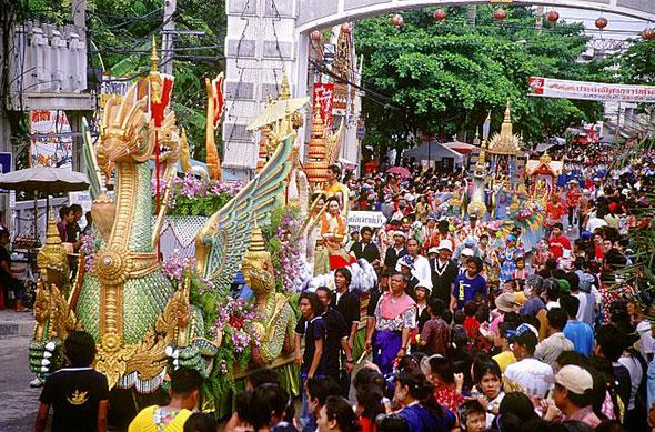Celebraciones del Songkran, el Año Nuevo tailandés