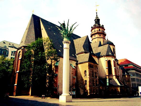 Iglesia de San Nicolas de Leipzgi. Foto © Turismo de Leipzig