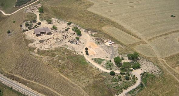 Vista aerea de Tel Hatzor.