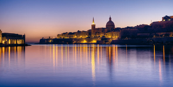 Skyline de La Valeta, Malta