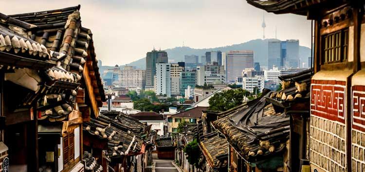 Panorámica del barrio de Bukchon de Seúl. © Doug Sun Beams.