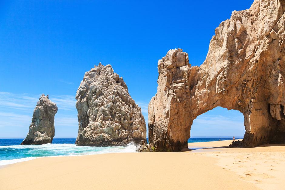 Las espectaculares playas del Cabo San Lucas. © Shutterstock