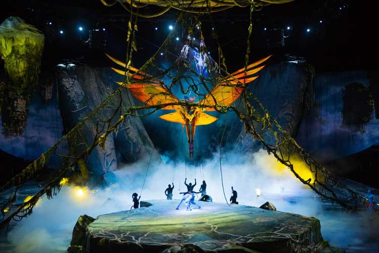 Toruk, el primer vuelo. Cirque du Soleil. Toruk del Circo del Sol. Montreal con niños. © Errisson Lawrence. Tu Gran Viaje a Montreal con niños