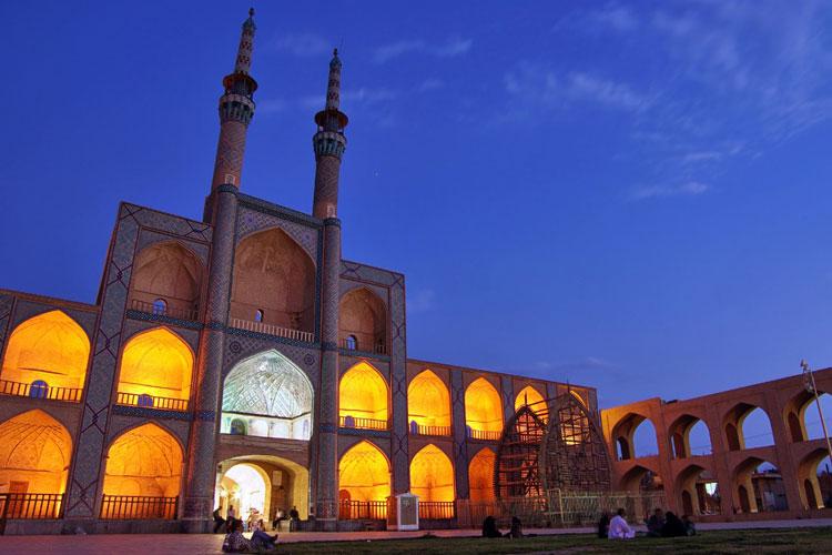 Mezquita de Amir Chakhmaq. Persia con Mapa Tours