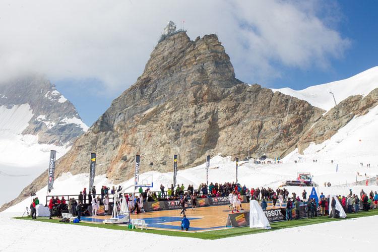 Baloncesto de altura en Jungfrau con Tissot. Tu Gran Viaje