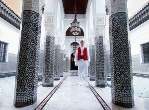 Black and White Patio. Hotel La Mamounia Marrakech. Los mejores hoteles del mundo en Tu Gran Viaje