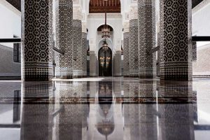 Black and White Patio. Hotel La Mamounia de Marrakech. Los Mejores hoteles del mundo, en Tu Gran Viaje