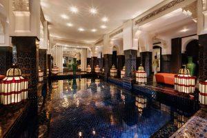 Entrada al Spa del hotel La Mamounia de Marrakech. Los mejores hoteles del mundo en Tu Gran Viaje