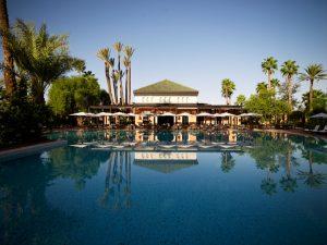 Piscina exterior del hotel La Mamounia de Marrakech. Los mejores hoteles del mundo en Tu Gran Viaje
