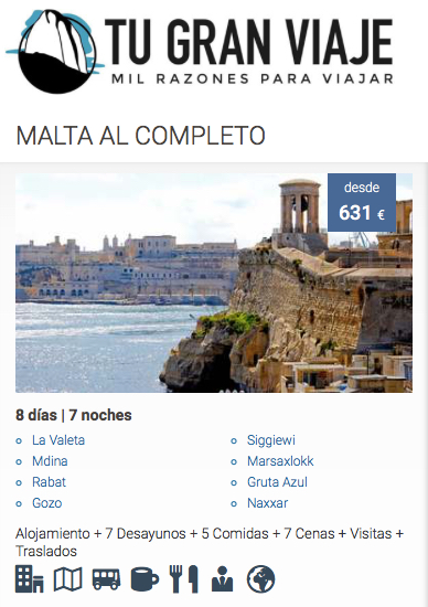 ofertas de viajes baratos a Malta | Tu Gran Viaje