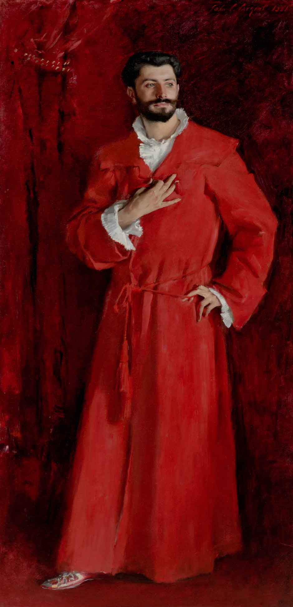 John Singer Sargent, Dr Pozzi at home, 1881. The Armand Hammer Collection, Gift of the Armand Hammer Foundation. Hammer Museum, Los Angeles