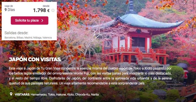 Ofertas de viajes a Japón | Tu Gran Viaje
