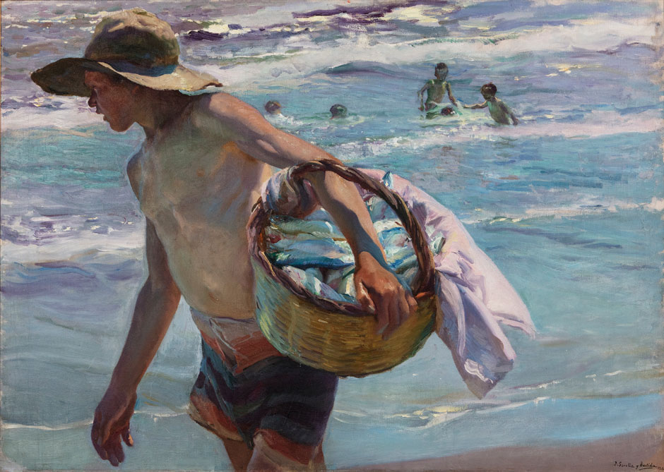 Joaquín Sorolla, Young Fisherman, Valencia, 1904 Oil on canvas, 75 × 104 cm Private Collection © Photo: Laura Cohen
