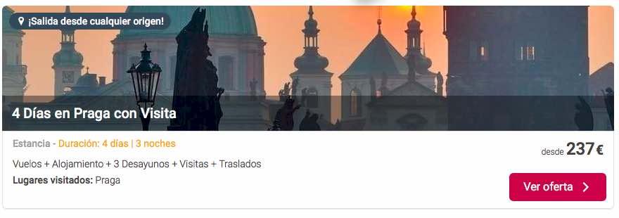 Oferta de viaje a Praga