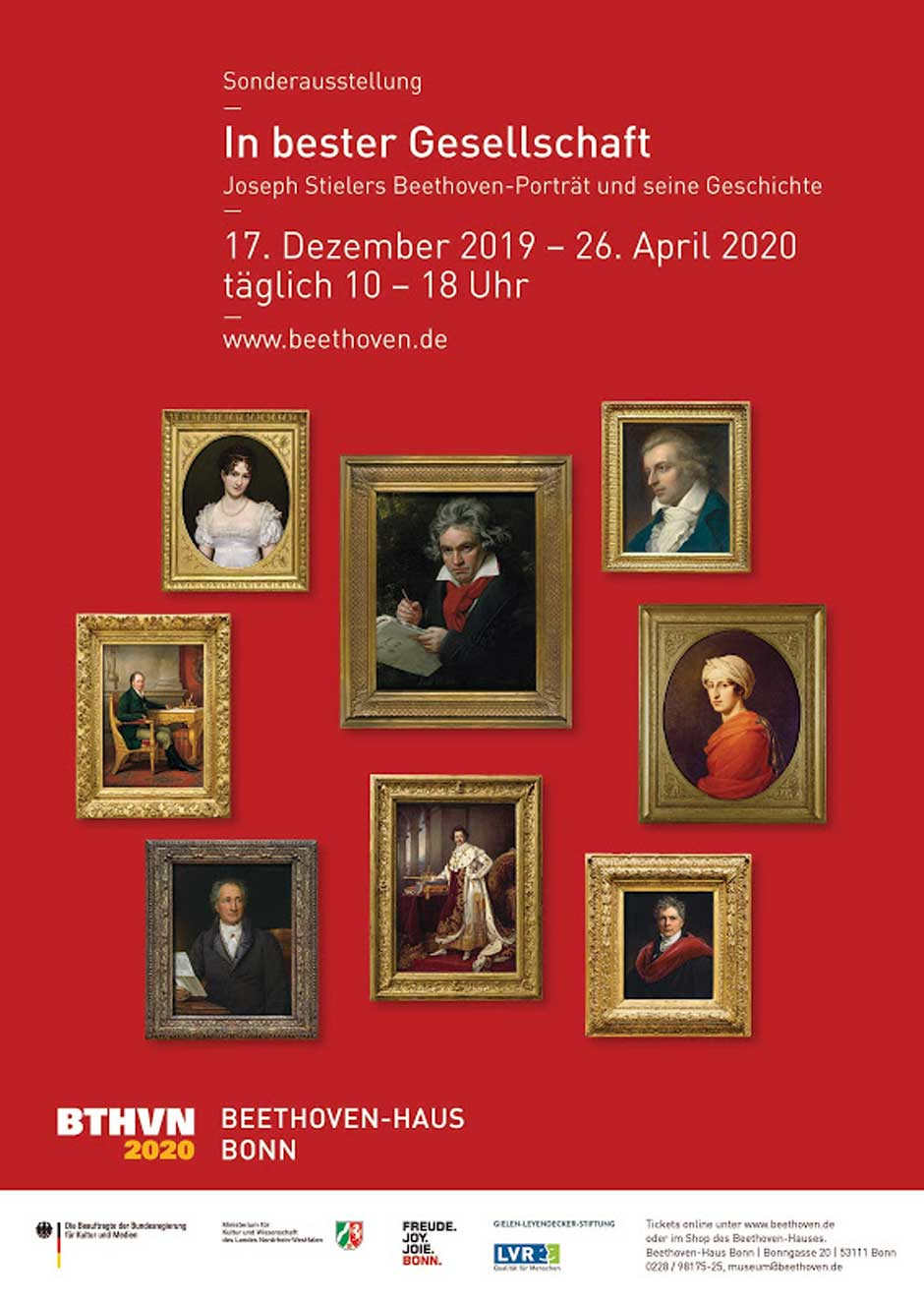 Hasta el próximo 26 de abril, la Casa de Beethoven en Bonn acoge una exposición con el famoso retrato de Joseph Stieler como protagonista | Tu Gran Viaje
