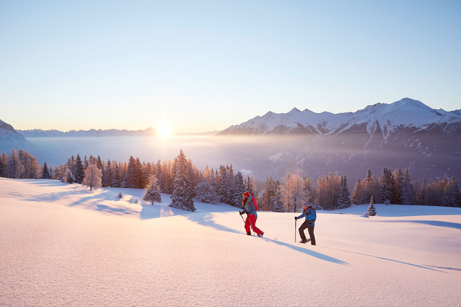 Raqueta de nieve en Mieming. © Innsbruck Tourismus / Christian Vorhofer
