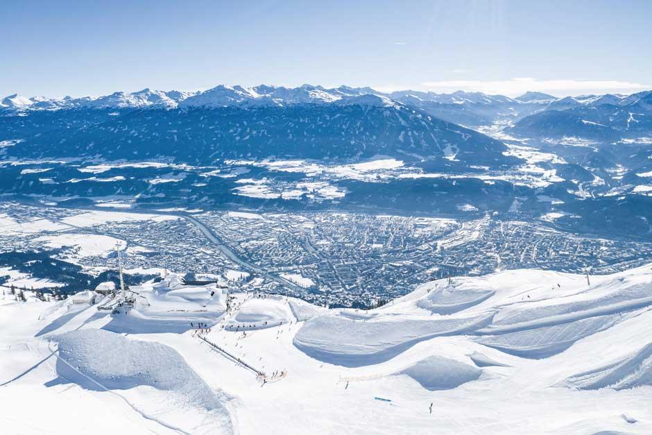 Panorámica de Innsbruck desde Norkette. Foto © Innsbruck Tourismus / Tom Bause
