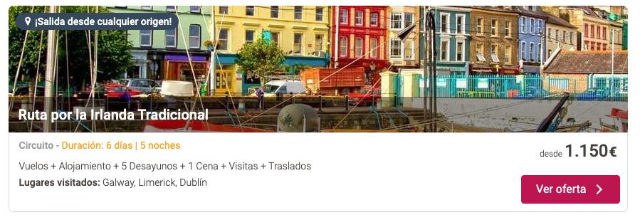 oferta viajar a irlanda verano tu gran viaje