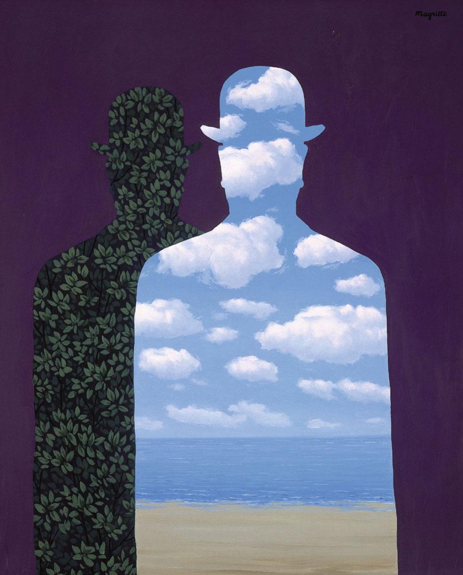 La alta sociedad, 1965 o 1966. Fundación Telefónica. Imagen Cortesía de Fundación Telefónica. © René Magritte, VEGAP, Madrid, 2021   Exposición Magritte Thyseen Madrid   Tu Gran Viaje